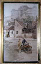 Photo: Zórád Ernő (a Tabán festője) képe, a Kós Károly téri galériában