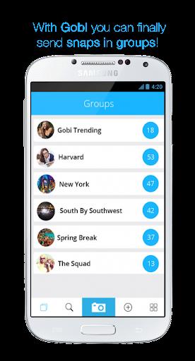 Gobi - Send snaps in groups