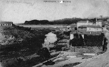 """Photo: Estuario do Río Gafos sen modificación do remate do río. Casa da """"Ghagha"""" e peiraos da Moureira de Abaixo"""