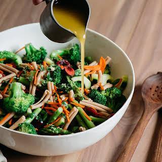 Broccoli and Asparagus Pasta Salad (Vegan).