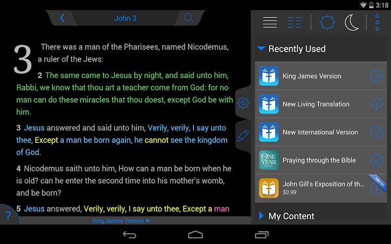 New American Standard Bible Screenshot