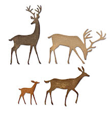 Tim Holtz Sizzix Thinlits Dies - Darling Deer