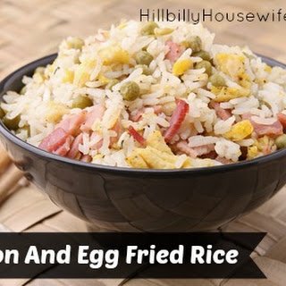 Egg Fried Rice With Bacon