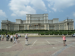 Photo: Nicolae Ceausescu's folly - the monumental Palace of Parliament.