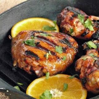 Grilled Chicken with Habanero and Orange Glaze.