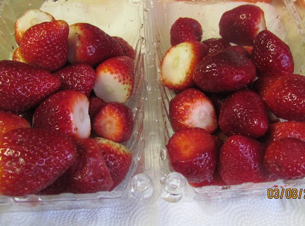 Cut the caps (the green part) off of the strawberries and wash the strawberries.I...