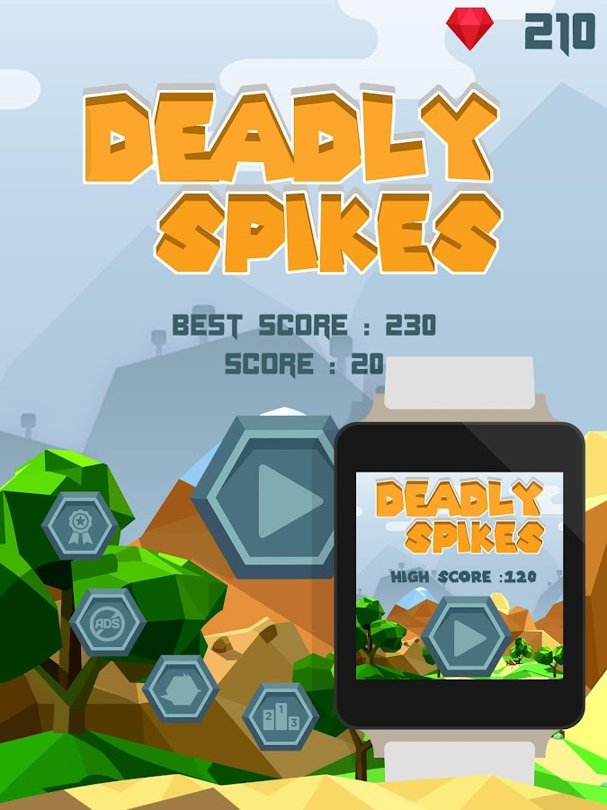 Deadly Spikes - Android Wear- screenshot