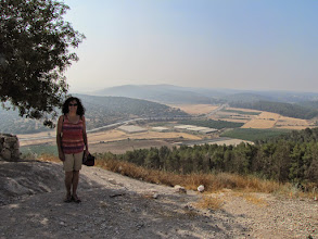 Photo: Toni above the Elah Valley at the ancient site of Azekiah