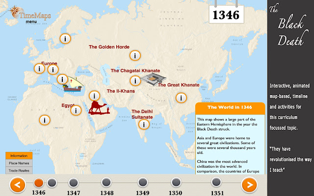 The black death timemap chrome web store the black death history map timeline and full historical narrative gumiabroncs Images