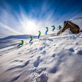 Jump! by Paulius Bruzdeilynas - Sports & Fitness Snow Sports ( sony, ski, cabin, winter, sony alpha, snow, myrkdalen, sport, freestyle, sony a7ii, jump,  )