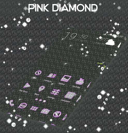 粉红钻石霓虹GO主题|玩個人化App免費|玩APPs