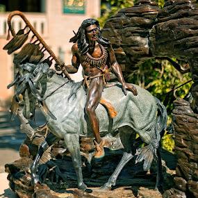Chief by Al Judge - Buildings & Architecture Statues & Monuments ( sculpture, arizona, public art, sedona, tlaq )