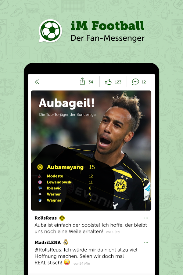 iM Football: Der Fan-Messenger- screenshot