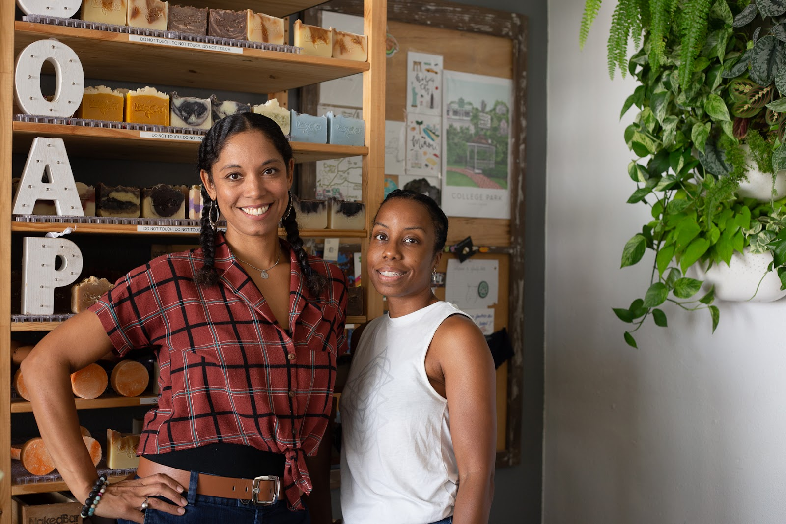 Natasha Byrd-Gaylon and Jennifer Peets, owners of Naked Bar Soap Co.