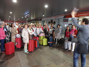 Photo: arrivada Moscow, Jonatan donant instruccions