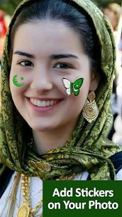 14 August Photo Frame Maker – Pakistan Flag Face 3