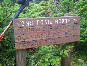 Photo: Sign on the Long Trail.