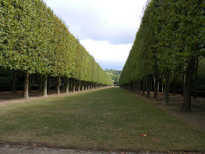 Photo: Now back in the Park, and wandering some of the quiet and well manicured paths on the way back to the château.