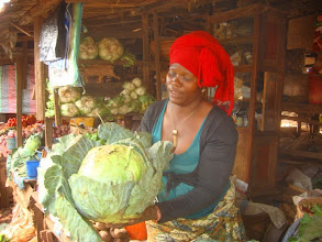 Photo: This is on of our food market friends, Abeltine.