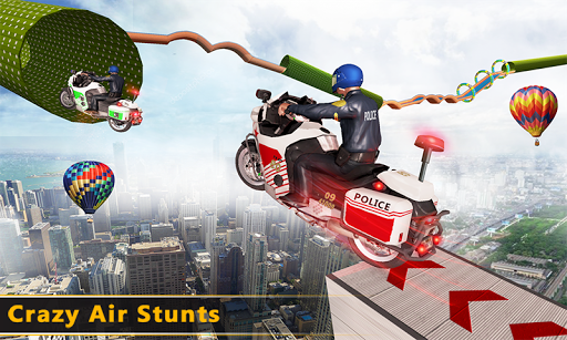Police Bike Mega Ramp Impossible Bike Stunt Games painmod.com screenshots 6