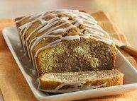Cinnamon Roll Pound Cake with Vanilla Drizzle Recipe