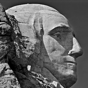 Rock Face by Robert Remacle - Black & White Portraits & People (  )
