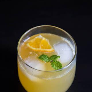 Orange Cream Bourbon Fizz.