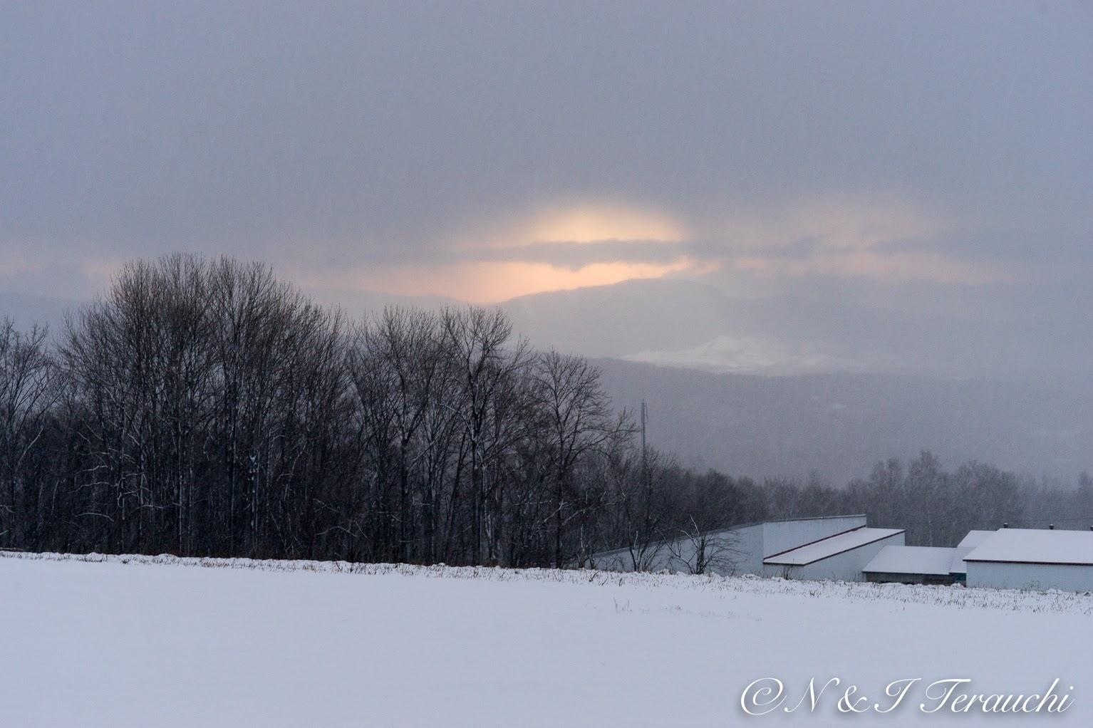 光を閉ざしていく雪雲