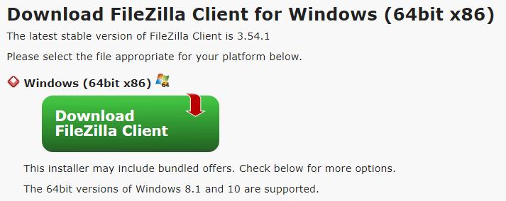 download filezilla client - Apa itu FileZilla