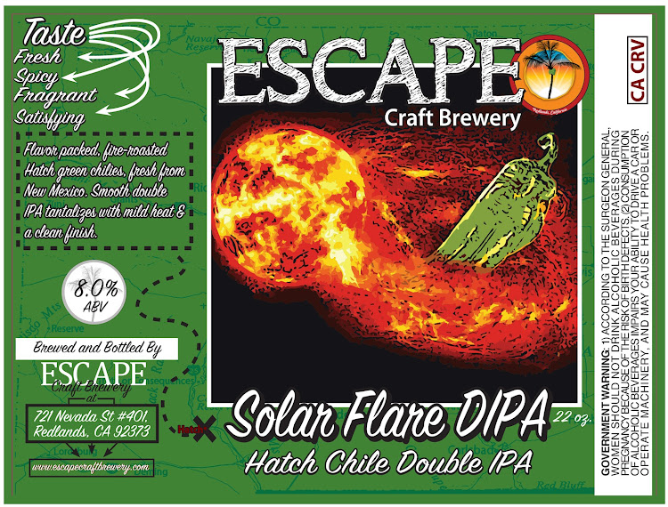 Logo of Escape Solar Flare, Hatch green chile double IPA