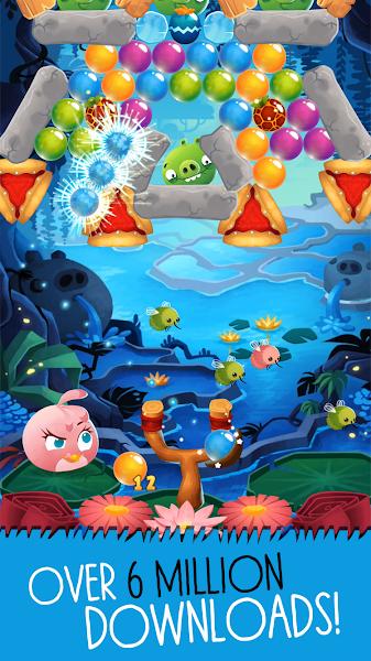 Angry Birds POP Bubble Shooter Mod Apk - screenshot