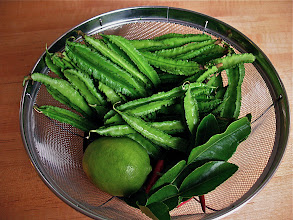 Photo: ingredients colander for southern-style winged bean salad