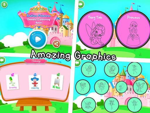 Coloring Book - Indian Princess Doodle Painting 1.0.5 screenshots 1