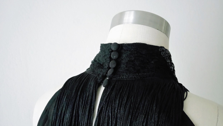Result: DIY Halter Top with Fringe, Sequin, Lace Embellishments - DIY Fashion | Fafafoom.com