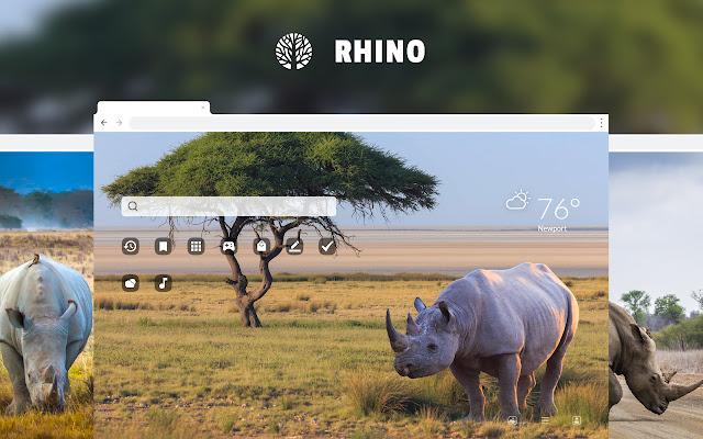 Rhino HD Wallpaper New Tab Theme