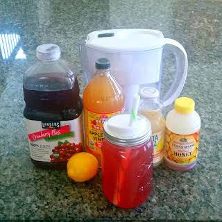Cranberry Apple Cider Vinegar Detox Drink.