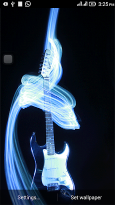 3d guitar live wallpaper androidアプリ applion