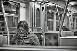 Photo: Sleeping to work