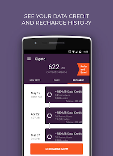 Gigato: Free Data Recharge- screenshot thumbnail