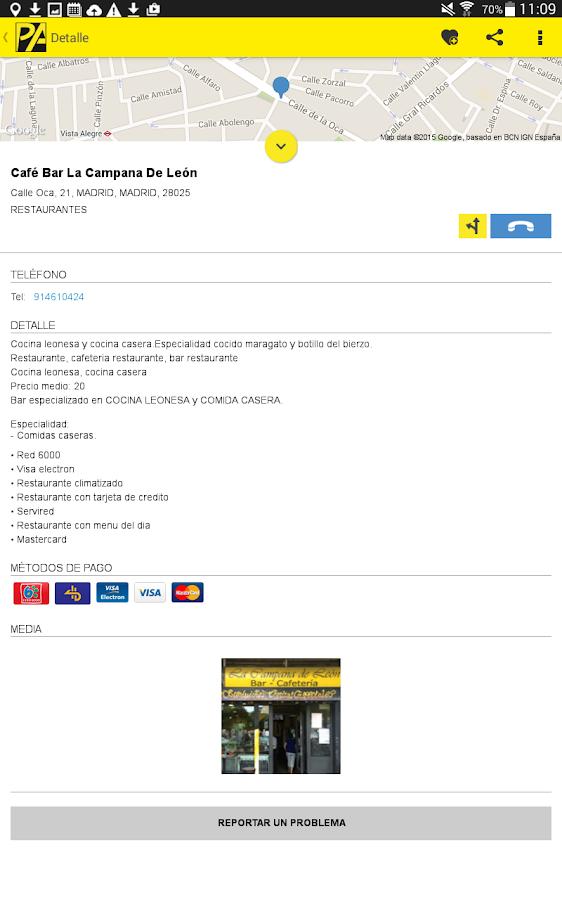 Páginas Amarillas España- screenshot