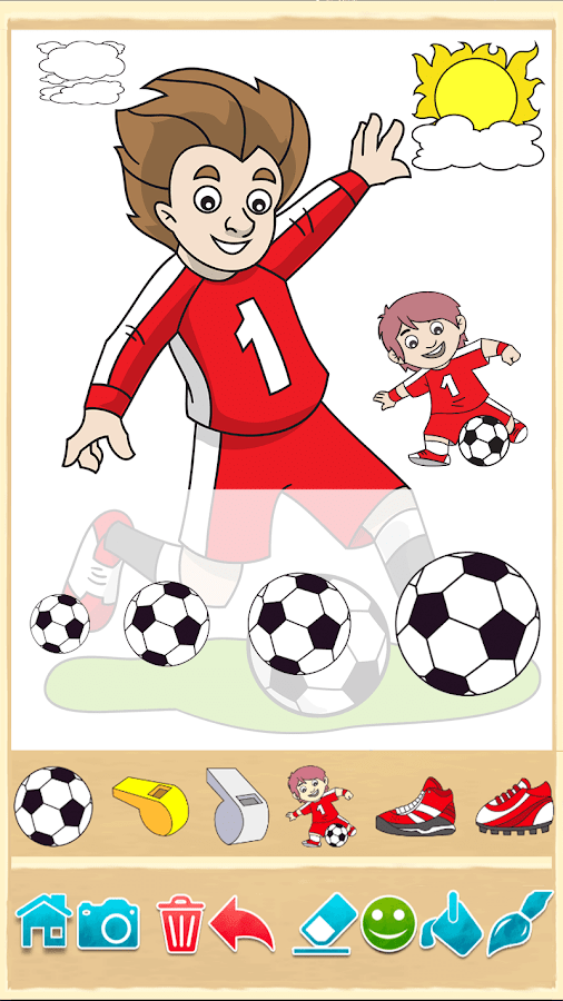Football Kids Color Game- screenshot