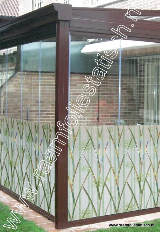 Raamfolie statisch bamboe verticaal kleur