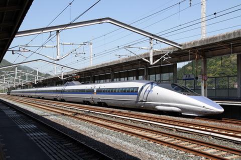 JR西日本 500系新幹線電車 V2編成 新岩国にて その1