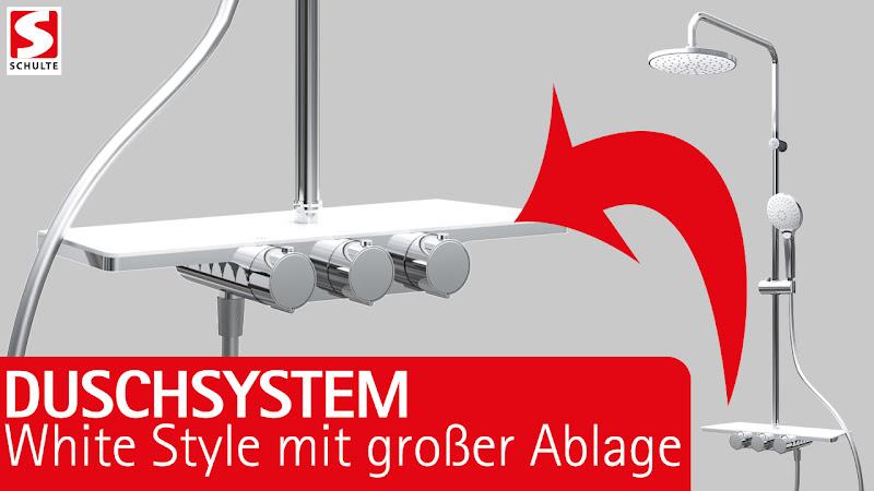 """Video: Duschsystem mit großzügiger Ablage - Der DuschMaster Rain III """"White Style"""""""