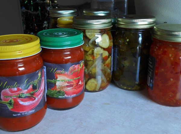 I use Uncle Gary's Spicy Red Pepper Spread, delicious.