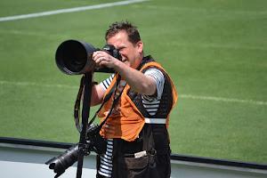 sportfotograaf in actie