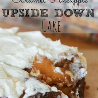 Caramel Upside Down Pineapple Cake.