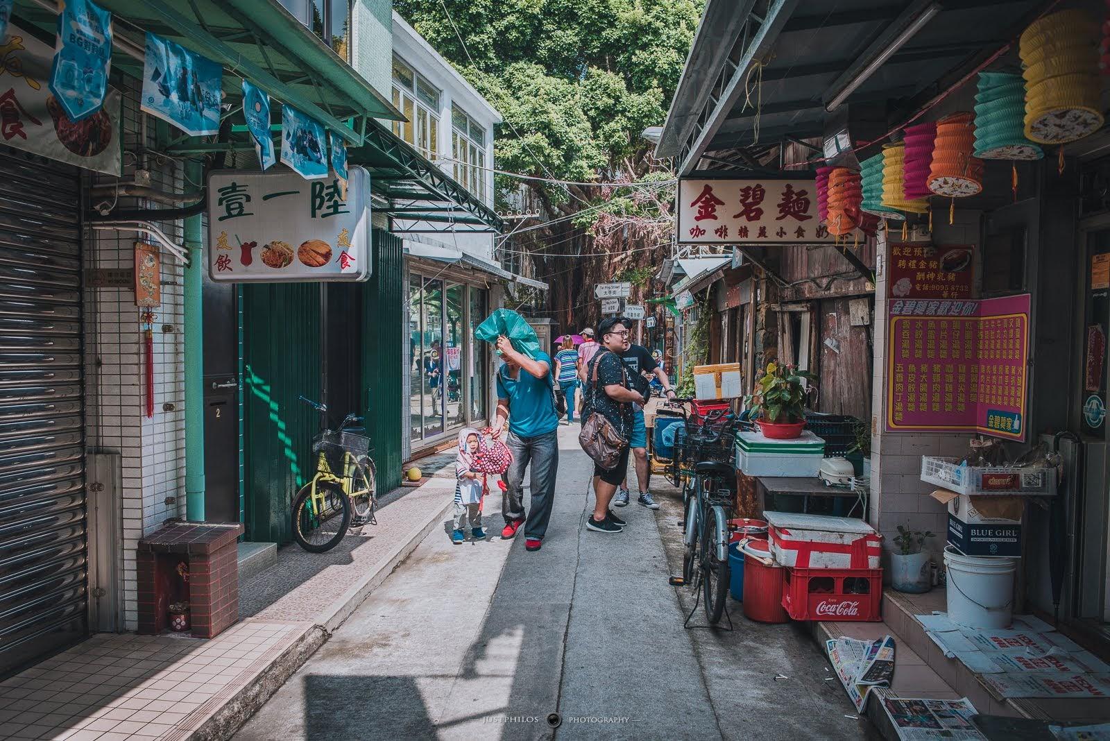 大澳的巷弄間彷彿有種在台灣老街上的感覺。
