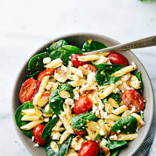 Healthy Chicken Pasta Salad.