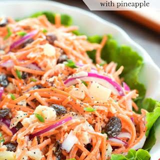 Carrot Raisin Salad with Pineapple.